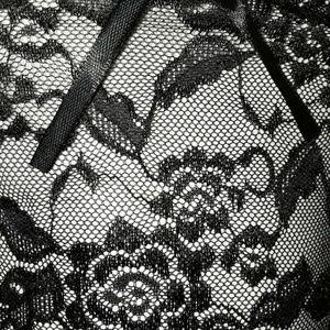 Intimates & Sleepwear - Black Rose Sheer Lace Bralette Cheeky Panty Set